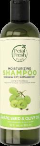 Nawilżający szampon do włosów suchych i zniszczonych Pestki winogron i Oliwa z oliwek  [Petal Fresh]